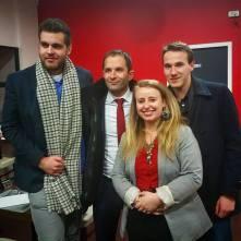 Avec Benoît Hamon lors d'un meeting de la présidentielle !