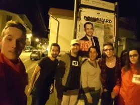Dernier collage avant le 1er tour de la présidentielle avec Frédérique Espagnac