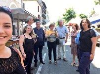 Au marché de Nay avec les camarades pour Nathalie Chabanne !