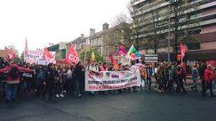 Les jeunes socialistes des Pyrénées-Atlantiques dans l'intersydicale