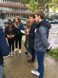 En porte à porte #MaCommuneSansRacistes au Lycée St John Perse avec notre suivi Jonathan