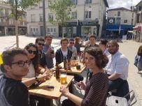 Action régionale à Mont de Marsan pour soutenir Renaud Lagrave aux législatives