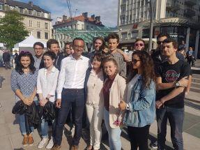 Action régionale à Pau pour soutenir Jérôme Marbot
