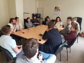 Réunion du MJS de le Nouvelle Aquitaine à Pau, présentation du week-end de soutien des candidats Landais et Béarnais aux législatives