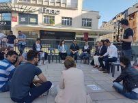 En speakers' corner sur l'Europe, campagne de Jérôme Marbot