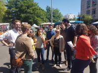 En campagne avec les camarades de toute la Nouvelle-Aquitaine pour soutenir Nathalie Chabanne aux législatives