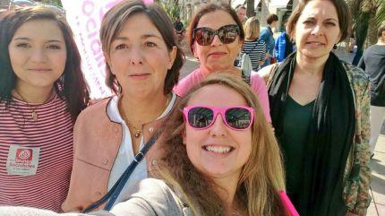 En mannif' avec les camarades du PS et Nathalie Chabanne <3